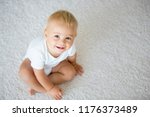 cute baby boy  smiling and... | Shutterstock . vector #1176373489