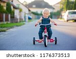 cute toddler child  boy ... | Shutterstock . vector #1176373513