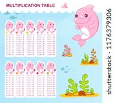 vector multiplication table and ... | Shutterstock .eps vector #1176379306
