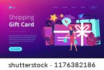 gift card with bow and ribbon ... | Shutterstock .eps vector #1176382186