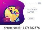 a freelance developer sitting... | Shutterstock .eps vector #1176382576