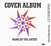 magnificent cover album music... | Shutterstock .eps vector #1176382990