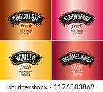 ice cream logo   brand vector.... | Shutterstock .eps vector #1176383869