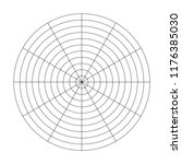 polar grid of 10 concentric... | Shutterstock .eps vector #1176385030