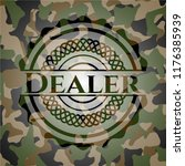 dealer on camouflaged texture | Shutterstock .eps vector #1176385939