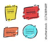 hand drawn quote text frame... | Shutterstock .eps vector #1176389689