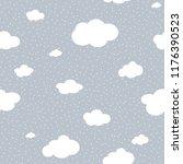 cute cloud seamless pattern... | Shutterstock .eps vector #1176390523