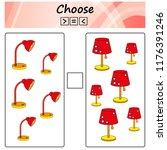 worksheet. game for kids  ... | Shutterstock .eps vector #1176391246