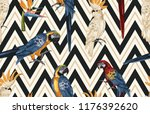 seamless tropical pattern... | Shutterstock . vector #1176392620