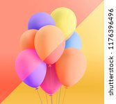 set of realistic mat helium... | Shutterstock .eps vector #1176396496