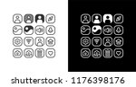 phone specification icon symbol ... | Shutterstock .eps vector #1176398176