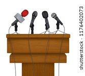 press conference stage. meeting ... | Shutterstock .eps vector #1176402073