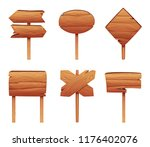 illustrations of wooden... | Shutterstock .eps vector #1176402076