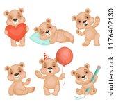 cute bear pose. cute animal... | Shutterstock .eps vector #1176402130