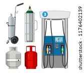 gas station. pumping petrol... | Shutterstock .eps vector #1176402139