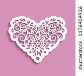 cutout paper swirls in shape of ... | Shutterstock .eps vector #1176404926