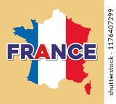 france culture card with flag... | Shutterstock .eps vector #1176407299