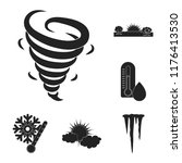 different weather black icons... | Shutterstock .eps vector #1176413530