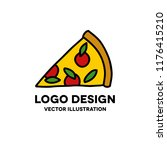 pizza doodle icon | Shutterstock .eps vector #1176415210