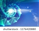 abstract science design with... | Shutterstock .eps vector #1176420880