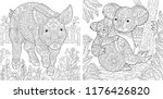 coloring pages. coloring book... | Shutterstock .eps vector #1176426820