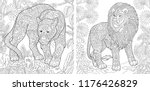 coloring pages. coloring book... | Shutterstock .eps vector #1176426829