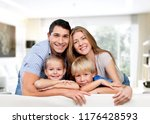 father  mother and children | Shutterstock . vector #1176428593