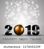 2019 happy new year background... | Shutterstock .eps vector #1176431239