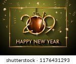 2019 happy new year background... | Shutterstock .eps vector #1176431293