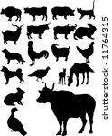 collection of farm animals | Shutterstock .eps vector #11764315