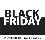 black friday inscription on... | Shutterstock .eps vector #1176431890