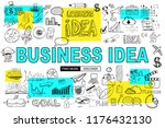 big idea  concept with doodle... | Shutterstock .eps vector #1176432130