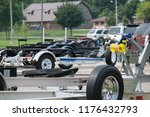 line of boat trailers in a... | Shutterstock . vector #1176432793