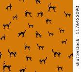 vector halloween seamless... | Shutterstock .eps vector #1176433090