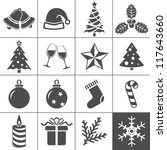 christmas icons. each icon is a ...