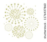 gold and bright firework on...   Shutterstock .eps vector #1176437860