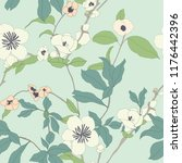 elegance pattern with flowers... | Shutterstock .eps vector #1176442396