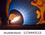 A Hot Air Balloon Being Hot Ai...