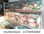 live tilapia fish in restaurant ... | Shutterstock . vector #1176443683