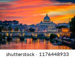 sunset view of old sant' angelo ... | Shutterstock . vector #1176448933