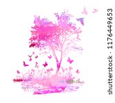 abstract pink landscape... | Shutterstock .eps vector #1176449653