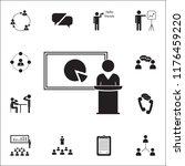 presentation of a pie chart... | Shutterstock .eps vector #1176459220