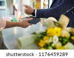 closeup of modern gentleman... | Shutterstock . vector #1176459289