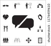 communication bubbles icon....