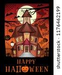 halloween design. halloween...   Shutterstock .eps vector #1176462199