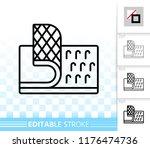 velcro fastener thin line icon. ...   Shutterstock .eps vector #1176474736