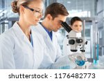 scientists are working in a... | Shutterstock . vector #1176482773