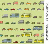 colorful cars pattern vector | Shutterstock .eps vector #1176492040