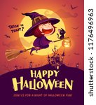 happy halloween. halloween... | Shutterstock .eps vector #1176496963
