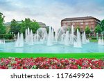 Beautiful Fountain In The...